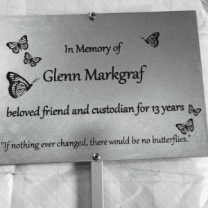 in loving memory, stainless seel, tree plaque