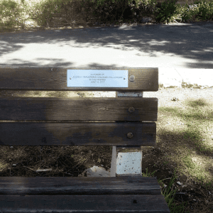 bench plaque, garden plaque