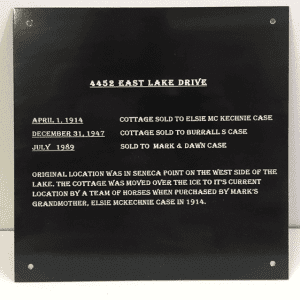 outdoor blackend brass plaque