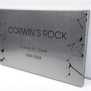 outdoor stainless steel garden plaque