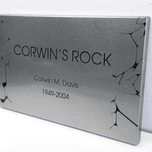 outdoor stainless steel garden plaque
