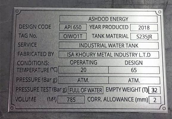 Industrial wall metal plaque