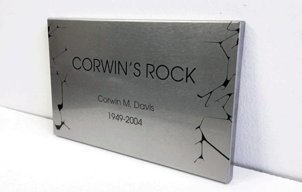 designed metal plaque for wall installation