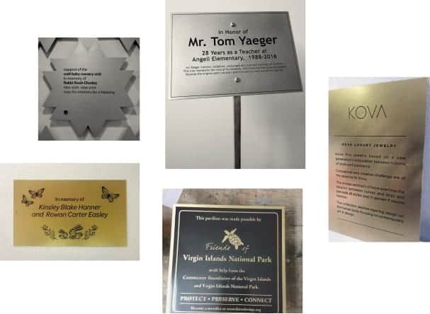 Metal plaques home