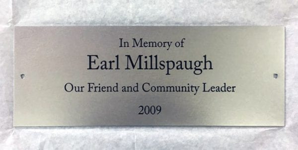 Stainless steel Memorial Etched Plaque