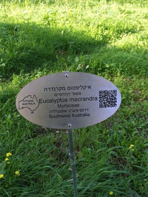 Garden tree plaque
