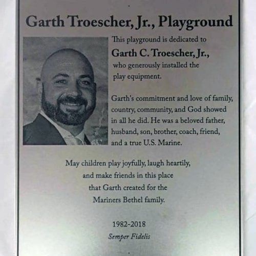 Memorial photo metal plaque