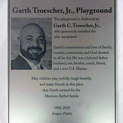 Memorial photo metal plaque