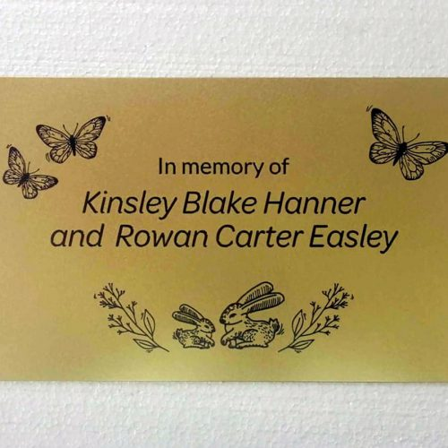 Designed brass metal plaque
