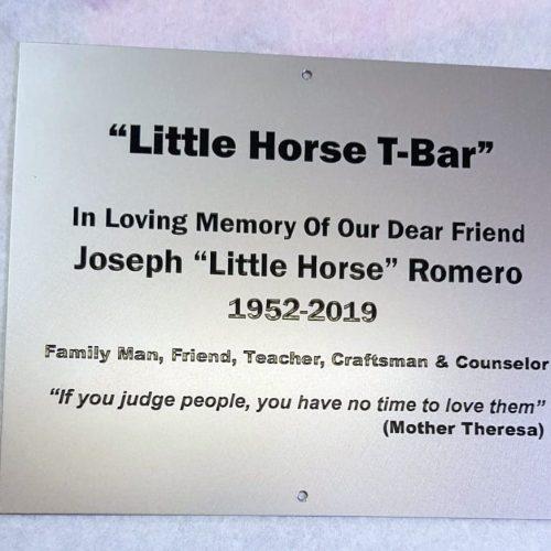 Stainless steel memorial plaque